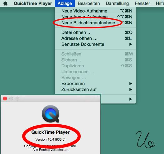 Quicktimeplayer Bildschirmaufnahme Bildschirm Videos Tipps