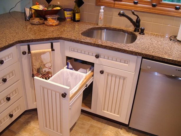 Under Sink Garbage Pull Out Kitchen Sink Remodel Kitchen Trash Cans Under Kitchen Sinks Under counter pull out trash can