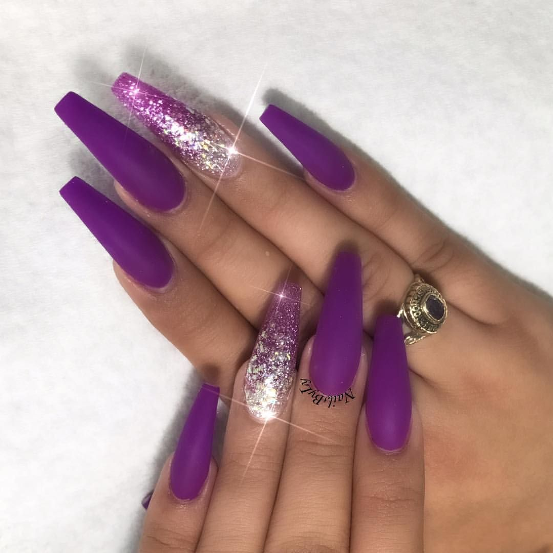 Coffin Nails Purple | Best Nail Designs 2018
