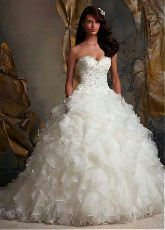 Tight Top Puffy Bottom Ball Gowns Wedding Wedding Dress Organza