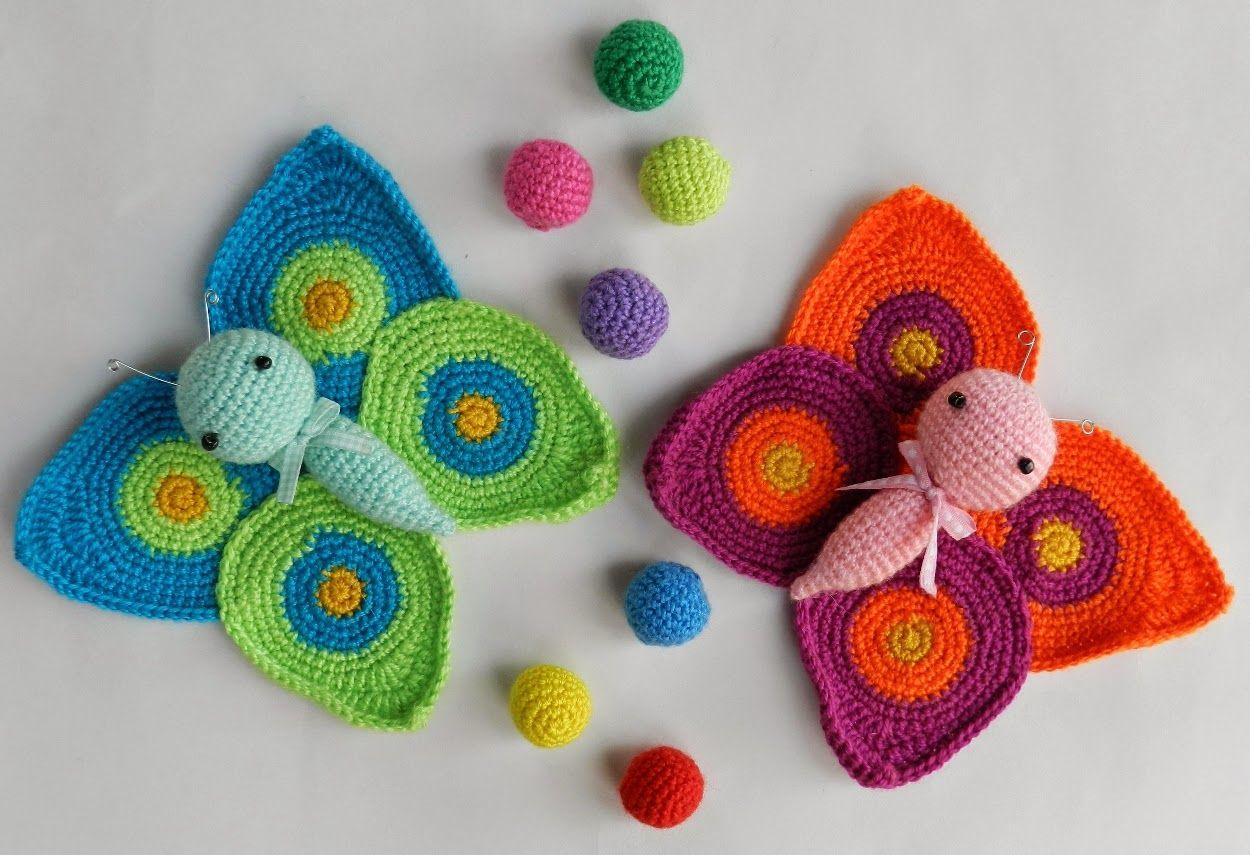 Patrón de mariposa amigurumi | crochet amigurumi | Pinterest