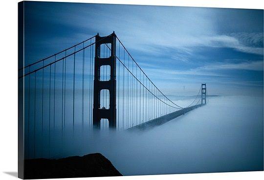Golden Gate Bridge Canvas Art Prints Golden Gate Bridge Panoramic Photos Posters More Golden Gate Bridge San Francisco Golden Gate Bridge Golden Gate