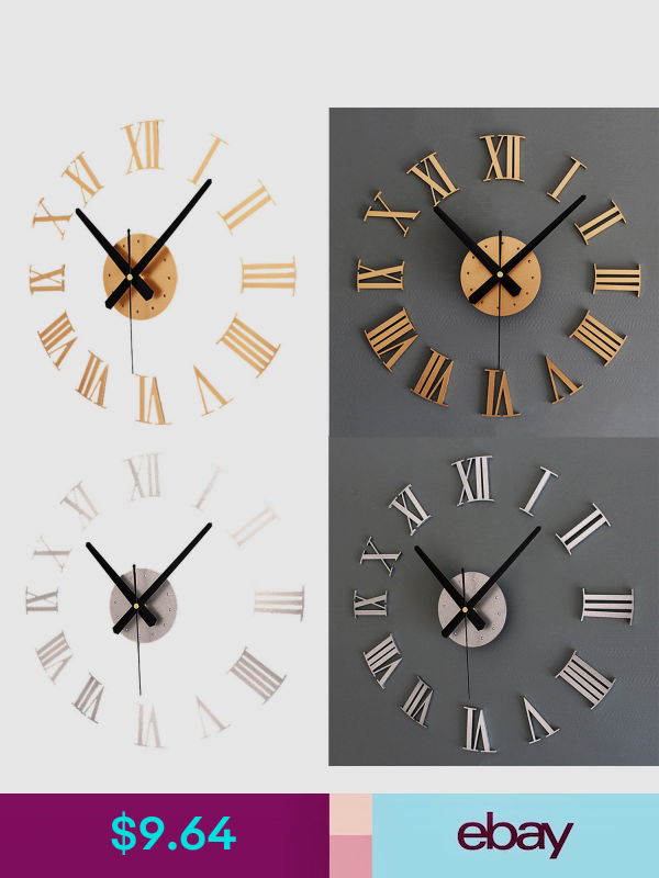 Wall Clocks Ebay Home Garden Roman Numeral Wall Clock Large