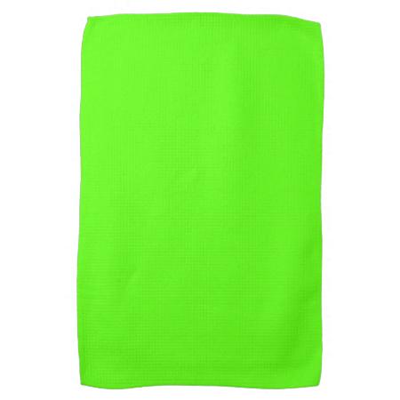 High Visibility Neon Green Kitchen Towel | Zazzle.com ...