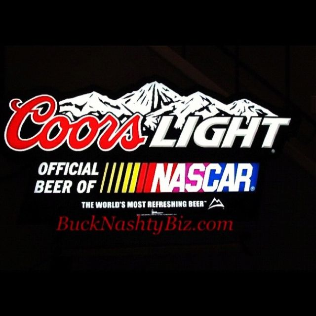 Coors light nascar large led beer sign light bucknashtybiz coors light nascar large led beer sign light bucknashtybiz aloadofball Images