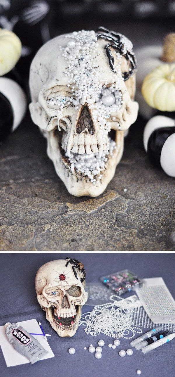 20+ Fun and Easy DIY Halloween Decorating Projects Halloween skull - skull halloween decorations