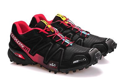 8f190fe50 Hot Men s Salomon Speedcross 3 Athletic Running Outdoor Hiking Shoes-Black Red   softball  turf