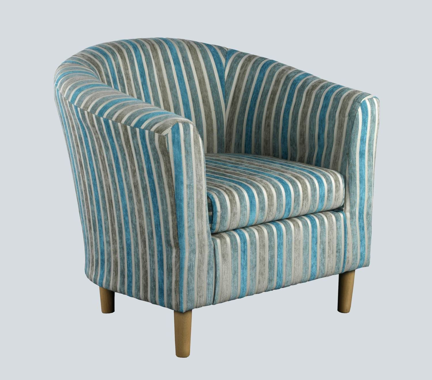 Teal Striped Tub Chair Tub Chair Chair Living Room Decor