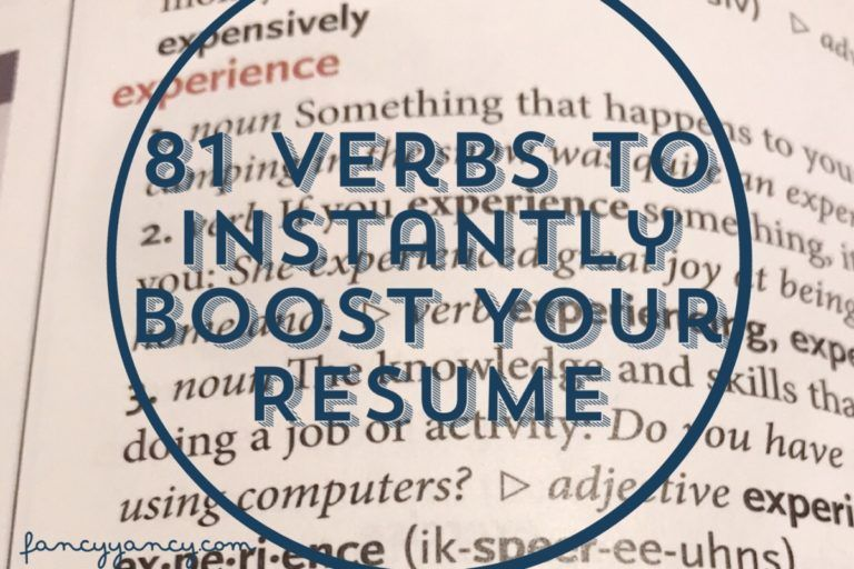 81 Verbs That Will Instantly Boost Your Resume Fancy
