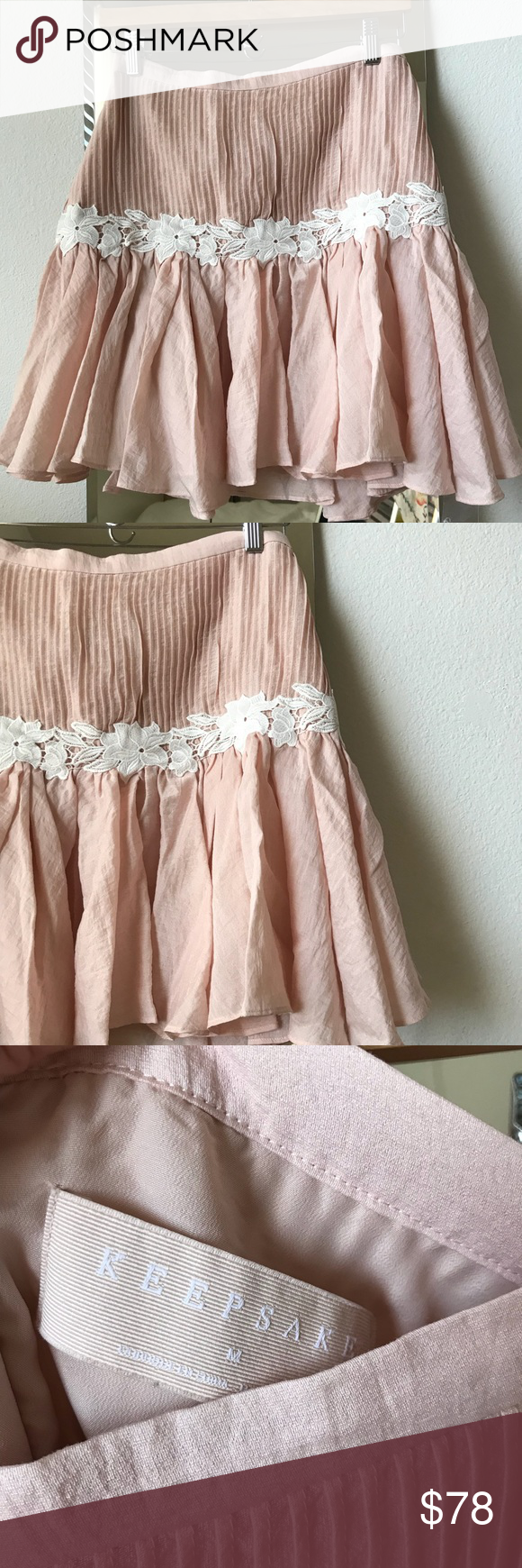 0311a115e860 KEEPSAKE THE LABEL All Mine Shell Skirt (M) Absolutely beautiful, delicate  & feminine skirt. You'll feel like a princess in this adorable skirt.