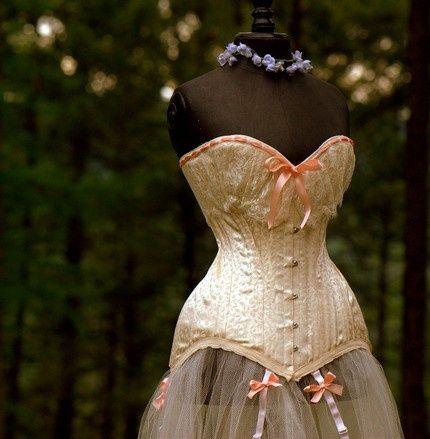 champagne wedding corset  steampunk  cosplay  corset