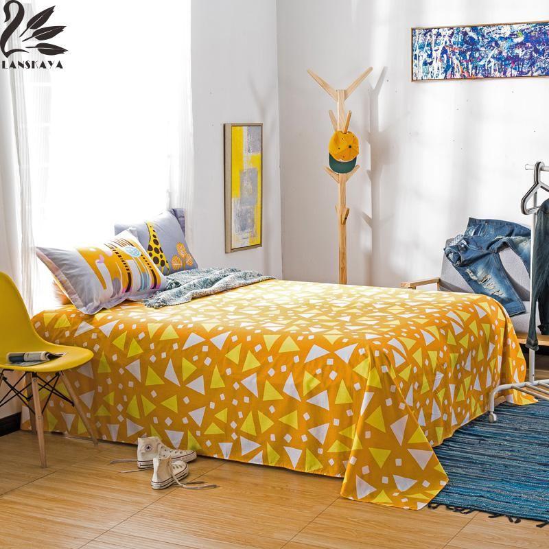 Lanskaya Jacquard 100 Cotton Bed Sheet Flat Sheet