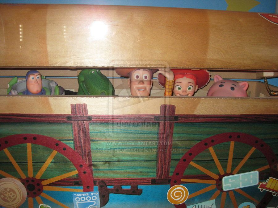 Andy S Toy Box By Shippertrish Deviantart Com On Deviantart Toy Story Room Toy Story Nursery Toy Boxes