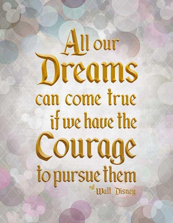 Dreams Can Come True Walt Disney Quote Giclee Phrase