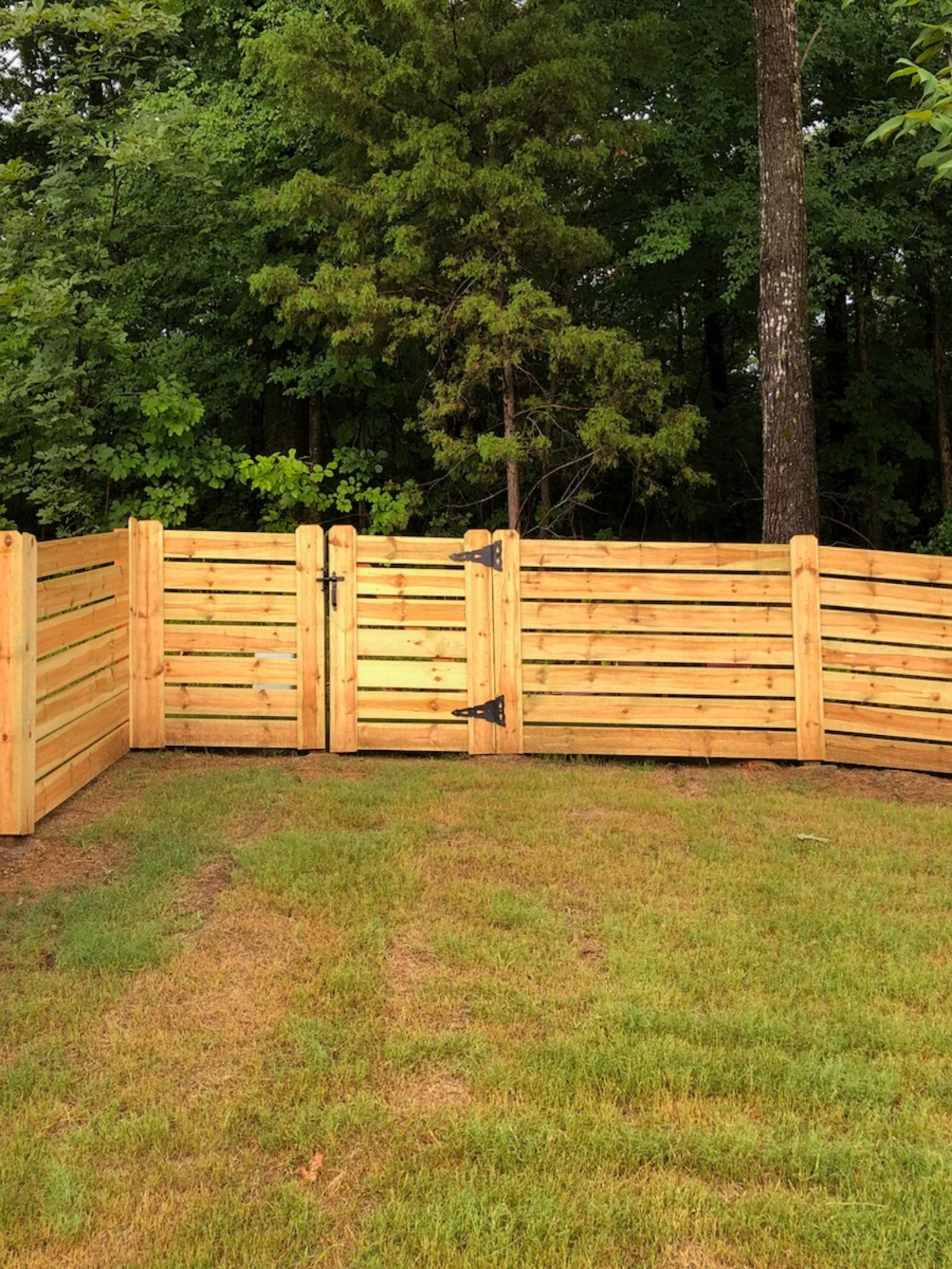 4ft Tall Horizontal With Spacing Fence Wood Fence Privacy Fence