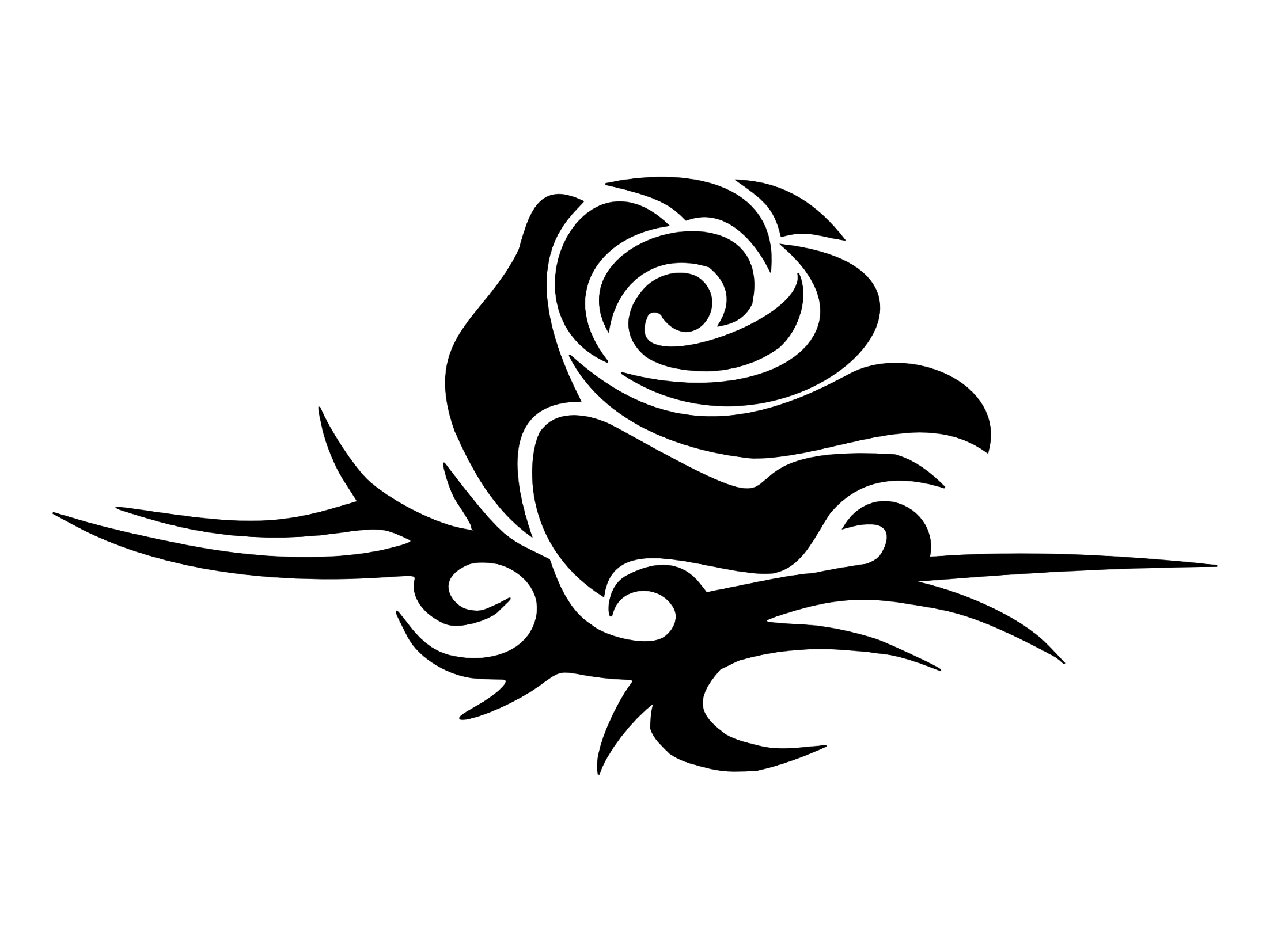 tribal-rose.png (2205×1654) | broderies | Pinterest | Rose ...