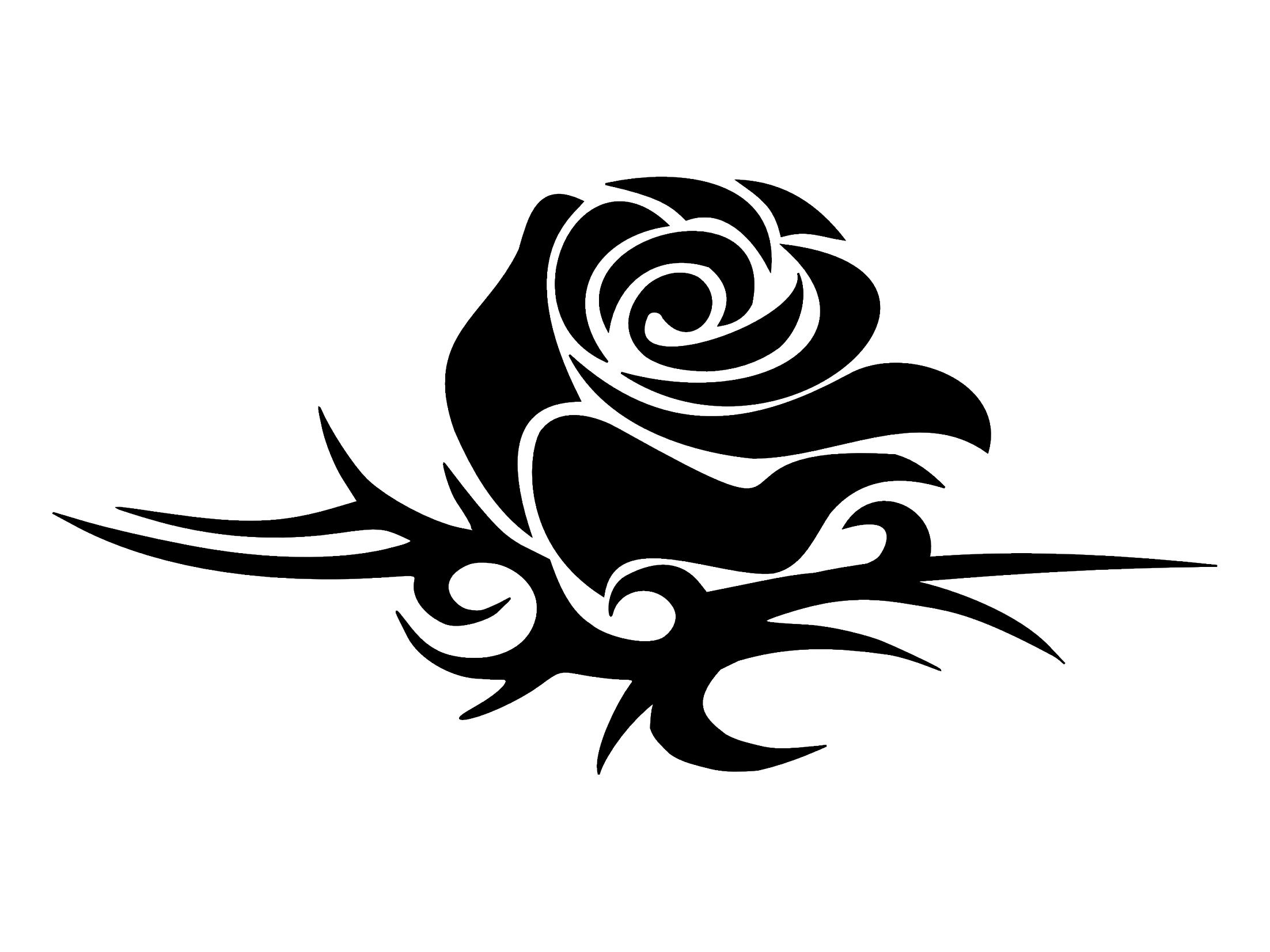 tattoo of tribal rose perfection love tattoo custom tattoo designs mitzy pinterest. Black Bedroom Furniture Sets. Home Design Ideas
