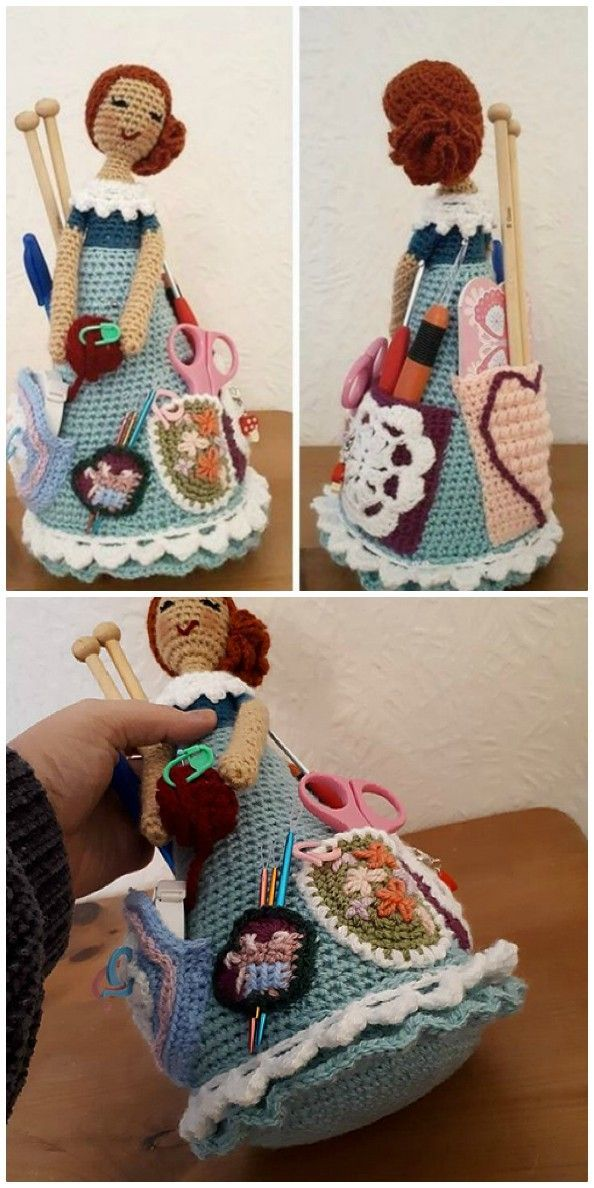 Crafter Granny Crochet Doll Free Pattern #dollaccessories