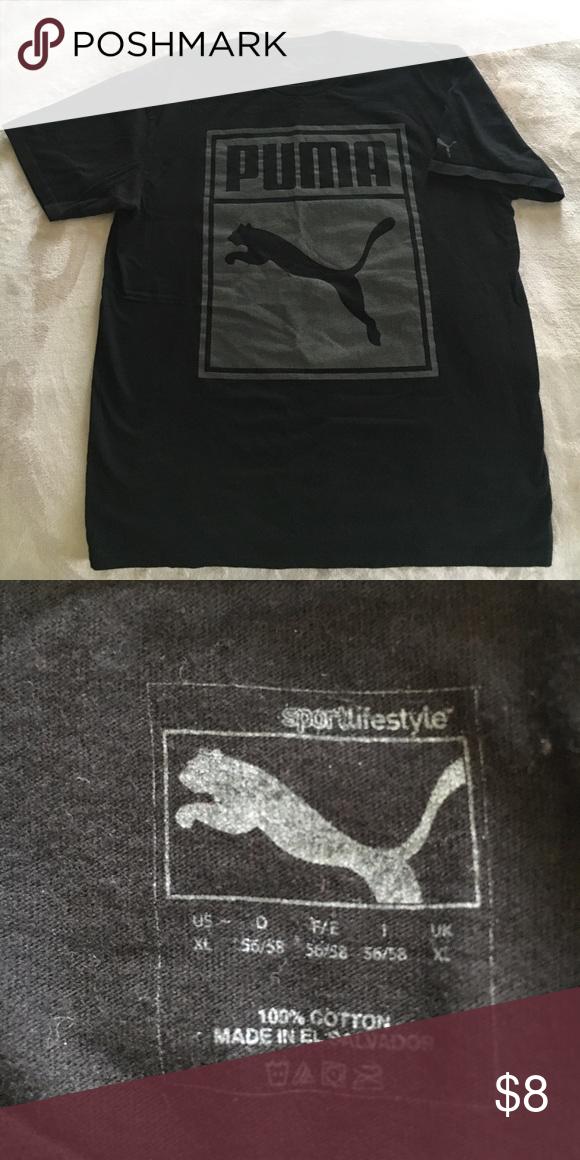 248115b86f9 Puma brand men's t shirt Black and gray men's puma t shirt Puma Shirts Tees  -