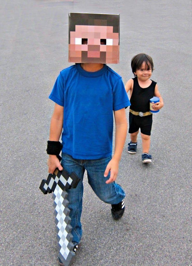 101+ Handmade Halloween costumes including Minecraft Steve farsang - minecraft halloween costume ideas