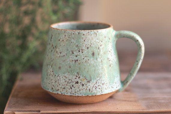 mug en céramique, tasses de poterie au tour, minimaliste, chopes en grès, tasse à café, tasse à thé, tasse en ceramique, moucheté