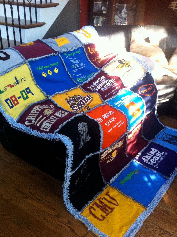 Custom made tshirt rag quilt shirt quilt rag quilt quilts