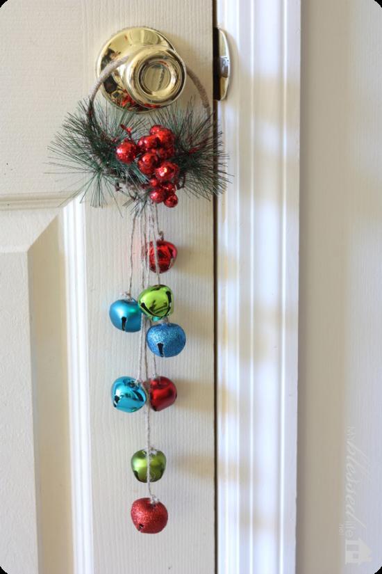 Christmas Door Hang Leather Christmas Decoration Sleigh Bells Sleigh Bell Door Hang