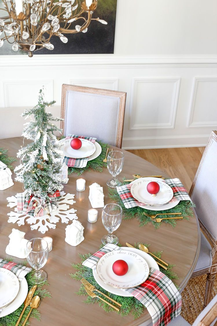 Christmas Village Table Setting And Holiday Entertaining Ideas Indoor Christmas Decorations Christmas Table Outdoor Christmas Decorations