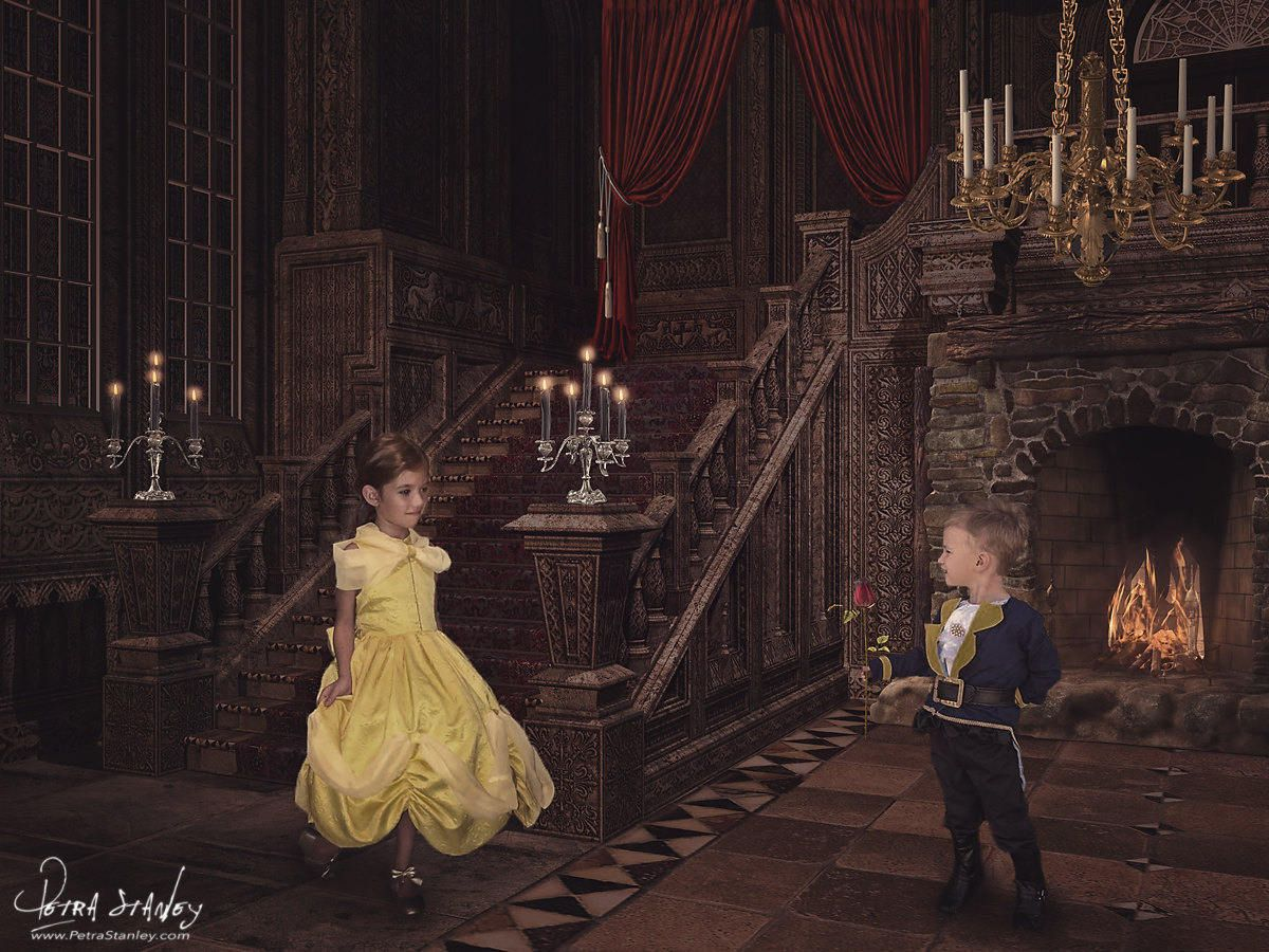 Princess Digital Background Disney Beauty The Beast Inspired