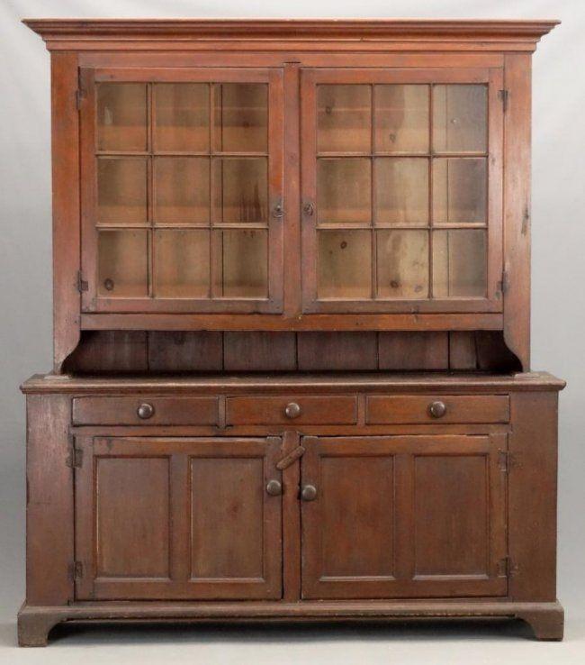 19th C Pennsylvania Dutch Cupboard Jan 01 2017 Copake Auction Inc In Ny Country Farmhouse Decor Cupboard Home Decor Furniture