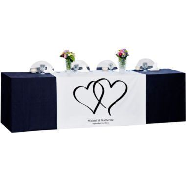 Cathy's Concept Heart Design Personalized Wedding Table Runner  found at @JCPenney