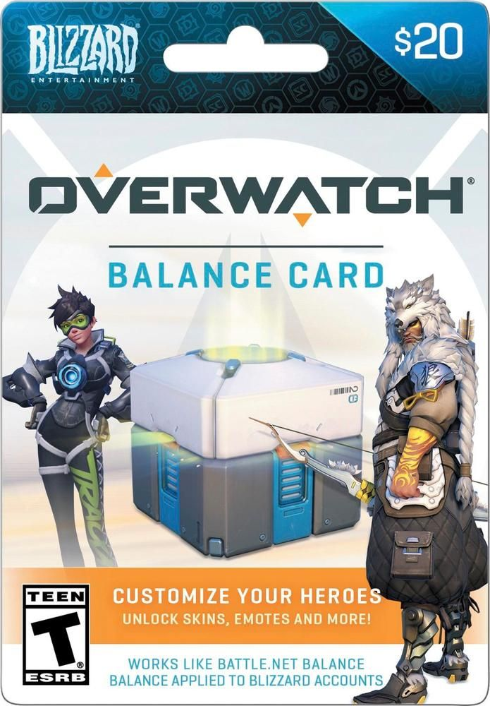 Blizzard - Balance $20 Overwatch Gift Card | Products | Overwatch
