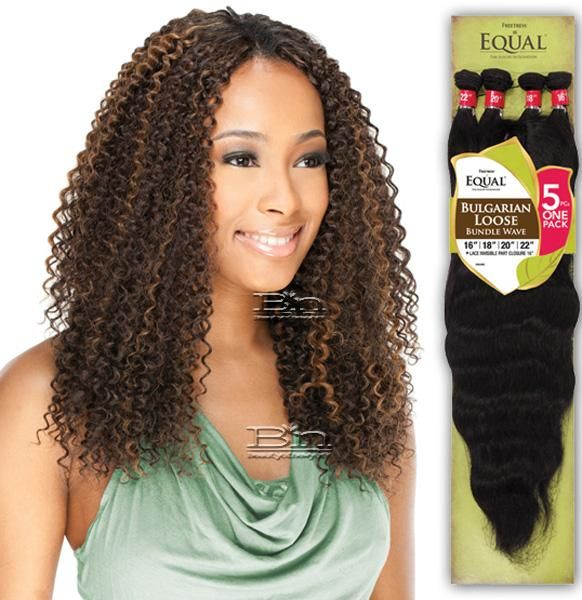 Shake N Go Freetress Equal Weave Brazilian Jerry Bundle Curl 4pcs