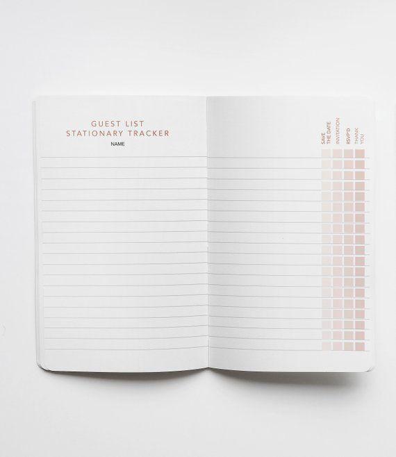 Wedding Planner DIY Minimalist Printable Agenda Bride Journal | Etsy | Wedding planner logo ...