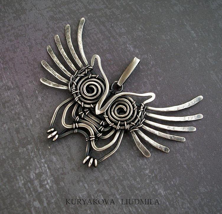 WireDream - серебряный Совеныш | Jewlery | Pinterest | Eule, Perlen ...