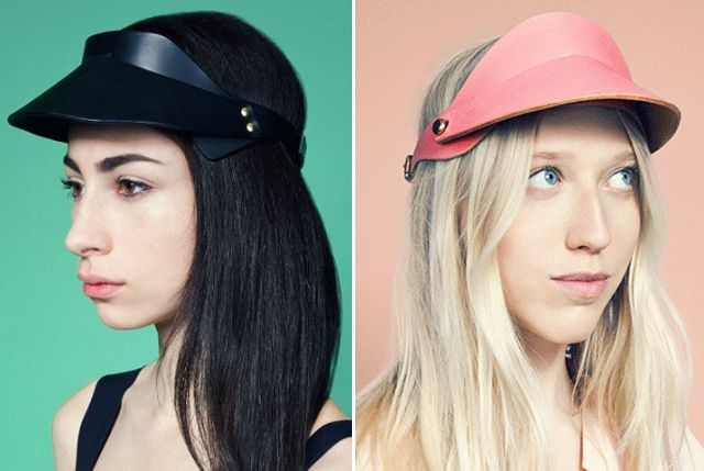 i used to love visors as a kid...i wore them every day. Fleet Ilya leather  visors. Upgrade. 40214275709