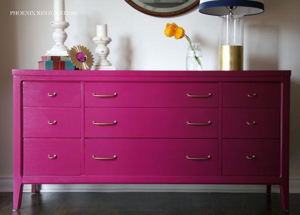 magenta sideboard by phoenix restoration phoenixrestoration midcentury magenta home. Black Bedroom Furniture Sets. Home Design Ideas