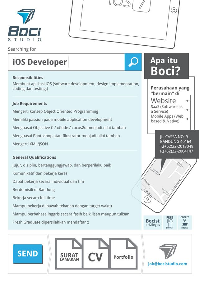 Boci Studio is recruiting iOS Developer chrome Pinterest Ios - ios developer resume