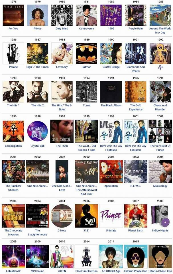 All Of Princes Albums In Order Of Release Purple Reign