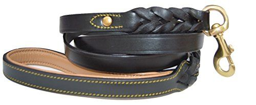Soft Touch Collars Heavy Duty Leather Braided Dog Leash, Black 6ft x 3/4 Inch -- Learn more by visiting the image link.