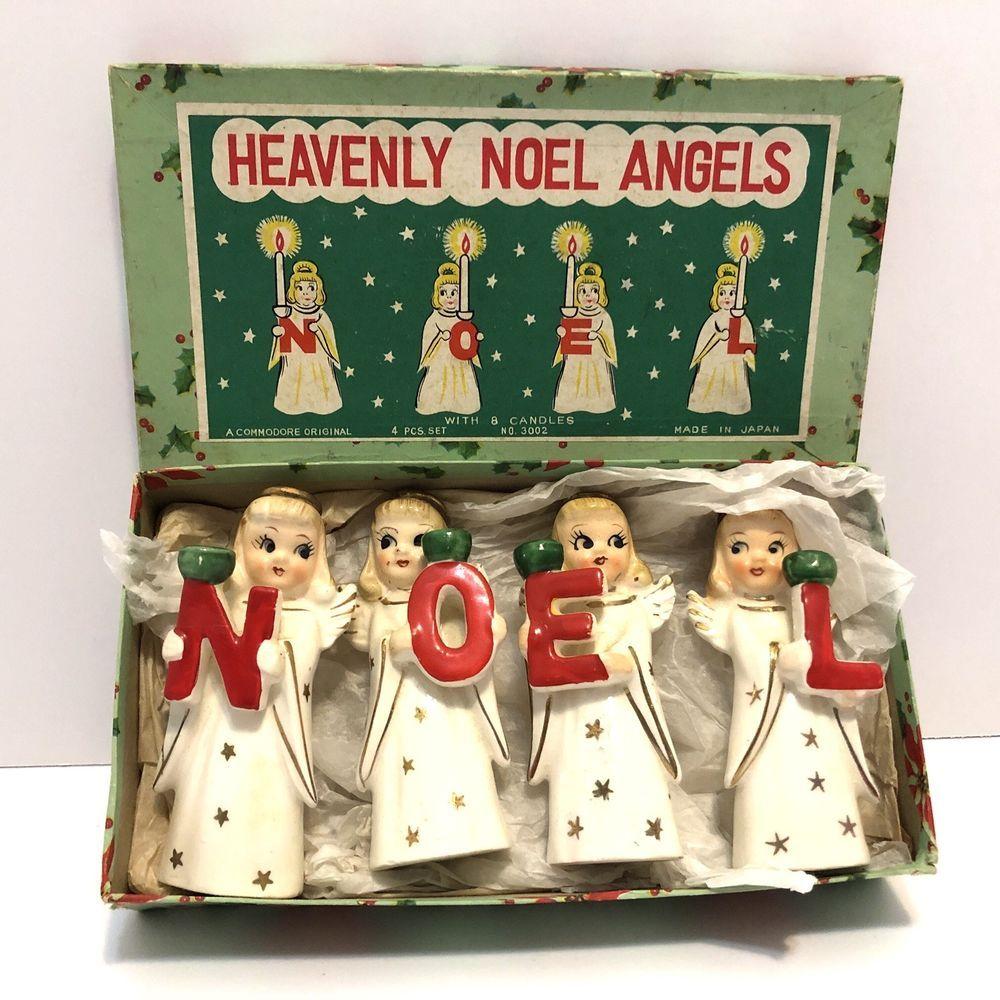 porcelain candle holder vintage antique angels decorations Vintage knick knack