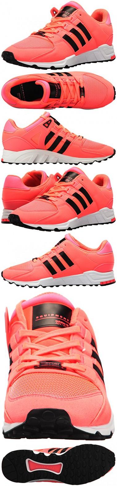 Adidas originali degli uomini eqt sostegno delle scarpe di moda, turbo nera