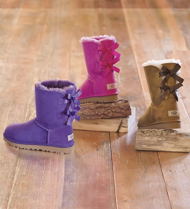 b44b15d06df Bailey Bow boots in fun new colors: Purple Reign and Princess Pink ...