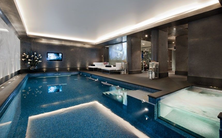 Homes With Steam Rooms Saunas And Hot Tubs Telegraph Indoor Swimming Pool Design Luxury Swimming Pools Indoor Pool Design