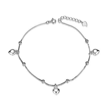 Sweetiee 925 Sterling Silver Anklet with Paw Silver 220mm for Woman eG2q4bushA