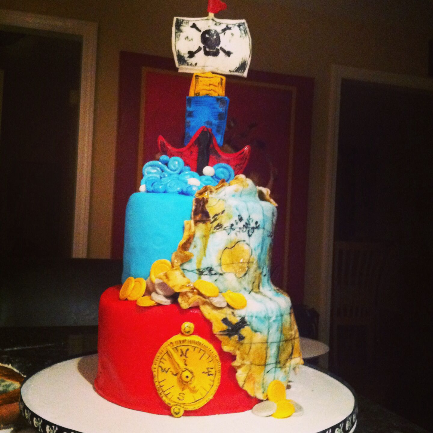 Jake and the Neverland pirate party cake | Party cakes ...