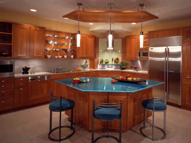 Etonnant Angled Kitchen Island With Seating   Google Search