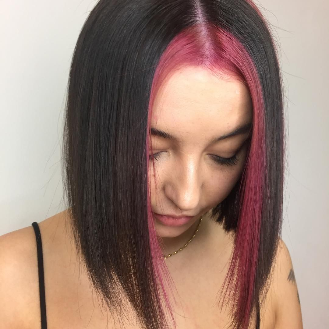 Strawberry Stripe By Midnightcowgrl Using Totalbleachkit And Oddfuschia With A Pea Of Thebigpink Hair Color Streaks Aesthetic Hair Dying Hair