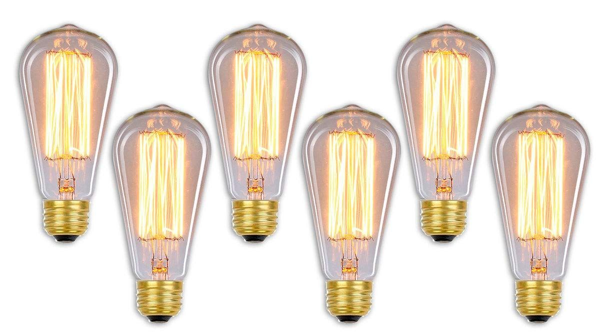 Royal Designs Vintage Decorative Antique Edison Style Incandescent Light Bulb 60watt Clear St64 E26 130v Light Bulb Incandescent Light Bulb Edison Light Bulbs
