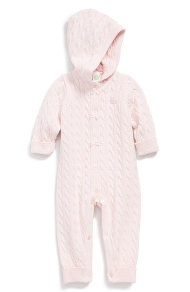 d2fcb0fabef6 Little Me Hooded Cable Knit Romper (Baby Girls) available at  Nordstrom